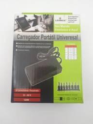 Fonte carregador universal Notebook Laptop Adaptador com 8 conectores 12V A 24V