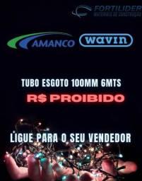 Título do anúncio: Tubo Esgoto 100mm marca Amanco com 6metros