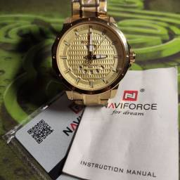 Relógio Dourado Naviforce NF9115M