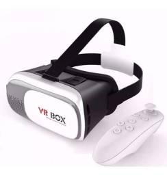 Óculos Realidade Virtual Aumentada 3d Com Controle