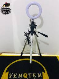 Tripé universal 1,34m + ring 6 polegadas