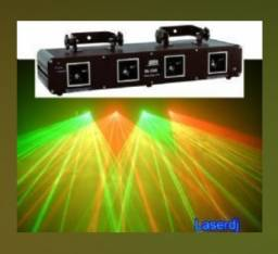Laser 4 Saídas Verde-Vermelho