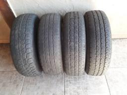 Vendo 4 pneus 185x14 8 lonas bons de Borracha