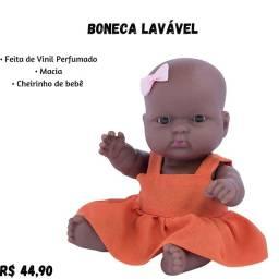 Boneca Negra Com cheiro de bebê
