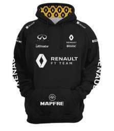 Moletom Fórmula 1 Renault F1 Team Preto e Amarelo
