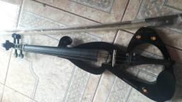 Violino Elétrico Sojing, com capa protetora, saída para fone de ouvido