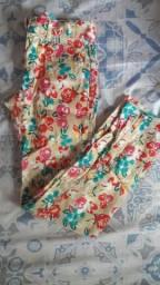 Calça infantil florida 5 anos
