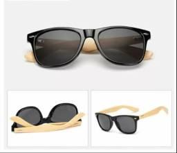 4c2a94f502b Óculos com astes de bambu