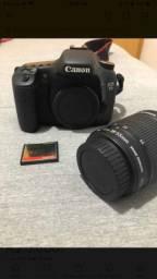 Câmera Canon 7D + lente + cartão CF 64gb