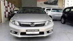 Honda 2014 civic 2.0 lxr Automatico completo couro prata confira