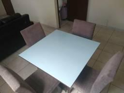 Mesa tampo laqueado 4 lugares