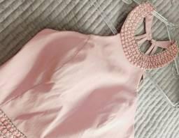 Vestido lindo de Festa na cor salmão