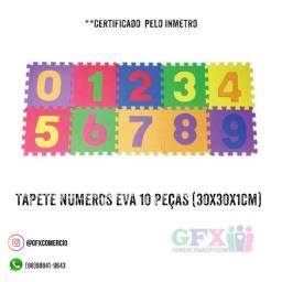 Tapete números Eva 10 peças - mega promoção