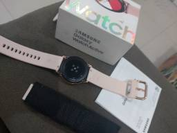 Vendo relógio Samsung Galaxy Watch Active R$ 950,00 passo cartão 10x100 Wats *74