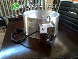 Fritadeira 3,5 Litros Tacho de Alumínio 300 graus Elétrica Irmãos Ribeiros
