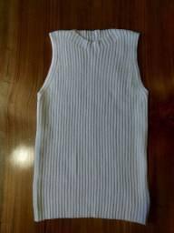 Regata de tricot branca