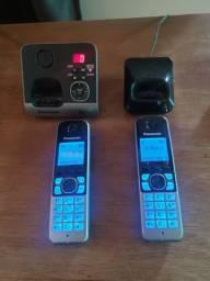 Telefone s/fio Panasonic c/ secretária eletrônica
