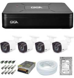 KIT CFTV GIGA, 4 câmeras!!!