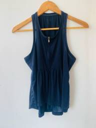 Título do anúncio: Blusa malha fria azul marinho (GEORGIO ARMANI) P