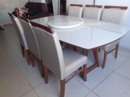 Título do anúncio: Mesa nova completa pronta entrega de madeira maciça
