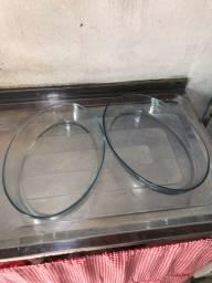 Refratário de vidro oval