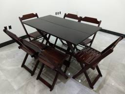 Jogo de Mesa Dobrável 1,20x70 c\6 cadeiras