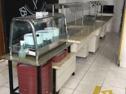 Restaurante mesas cadeiras e buffet quente e frio  ( LEIA O ANUNCIO INTEIRO )