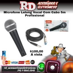 MICROFONE VOCAL CABO PROFISSIONAL