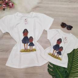 Kit mãe e filha dia das mães moda Blogueirinha