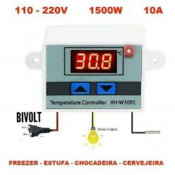Termostato Controlador De Temperatura Bivolt Para Chocadeira, Pinteiro e Outros