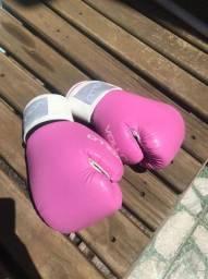 Luva de box rosa