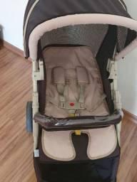 Carrinho bebê com bebê conforto unissex