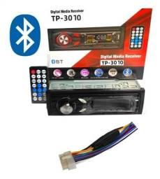 Radio Som Automotivo 60w x4 Digital Media Receiver Mp3 Bluetooth de Carro