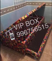Cama Box baú solteiro com auxiliar VIP BOX - linha premium