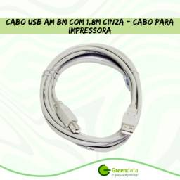 Título do anúncio: Cabo Usb Leadership 1.1 Impressora 1.80m