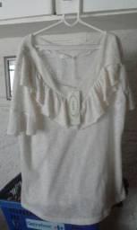 Blusa feminina Nova, tamanho G. Muito linda!