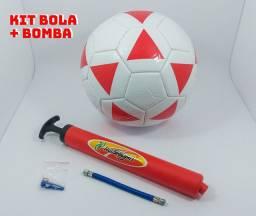 Kit Bola de Futebol + Bomba de ar manual