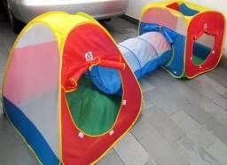 Toca túnel infantil fácil montagem Novo Entregamos