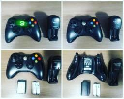 Título do anúncio: Controle Original Xbox com 2 pilhas Sony recarregável e carregador