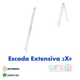 Título do anúncio: Escada extensiva 2x9
