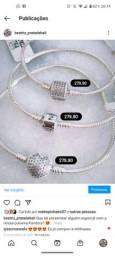 Pulseira de prata925 para berloques