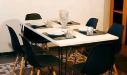 Título do anúncio: Conjunto estilo industrial 130x77 + 4 cadeiras