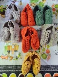 Sapatos de tricô