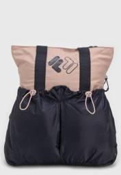 Bolsa Fila Double Rosa/Azul Marinho
