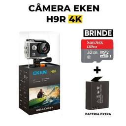 câmera Eken H9r 4k + Brinde 32GB de Memória  - Bateria Extra