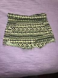Short saia estampado - Tam: M