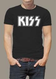 Camisa banda kiss camisa preta rock