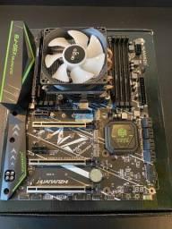 Kit Gamer - Placa mãe X99-F8 Gaming + Processador, cooler e RAM