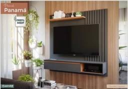 "Título do anúncio: Painel Panamá Permobili MDF Chumbo (Tv até 60"") - Lançamento"