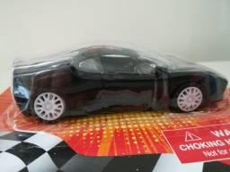 Carrinho De Brinquedo Novo Pull Back Racer Preto Fricção